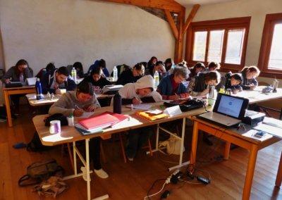 03 En pleine concentration pour l_évalution des cours d_alimentation du module 1 du mois de janvier