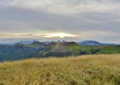 9)Lever de soleil au plus haut des cimes du Diois