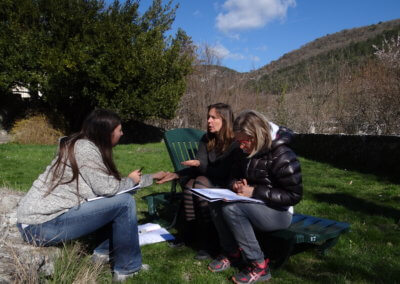 H)Pratique du bilan en sous groupe dans les jardins du monastère